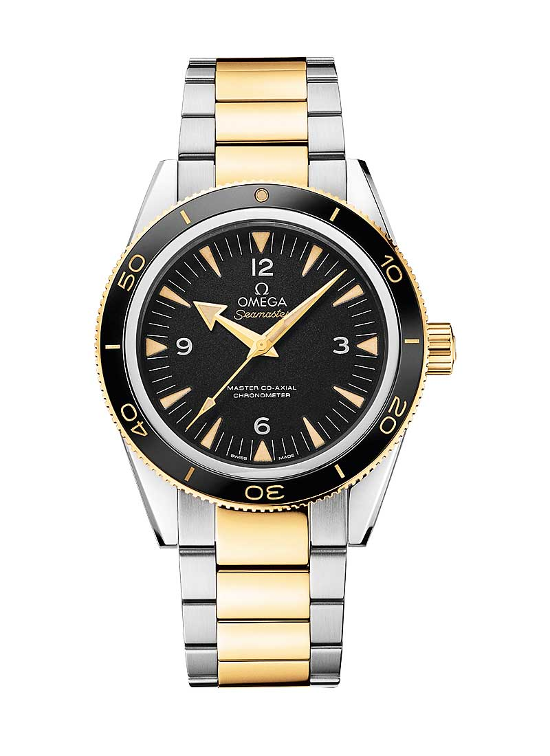 Omega Seamaster Pro 300 Co-axial Mens 41mm Automatic in Steel with Yellow Gold
