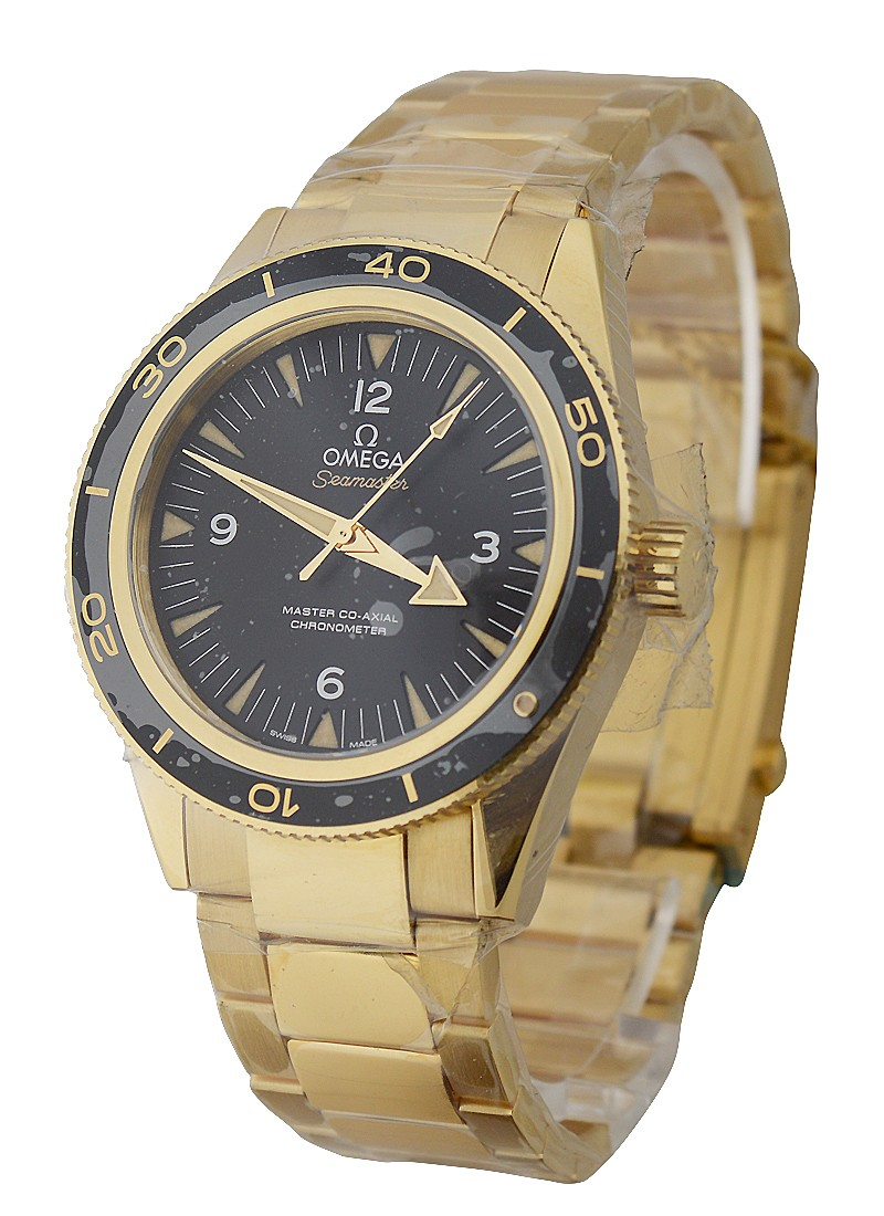 Omega Seamaster 300m Co Axial 41mm  in Yellow Gold