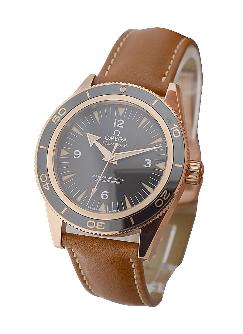 Omega Seamaster 300m Co Axial  41mm in Rose Gold