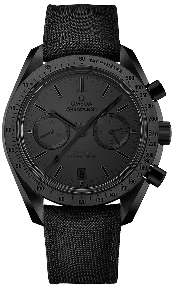 Omega Speedmaster Moonwatch Co- Axial Chronograph in Black Ceramic