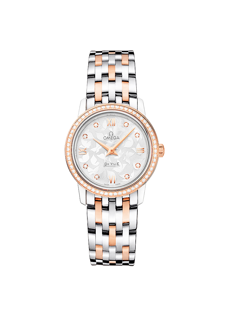 Omega Deville Prestige Ladies Butterfly 27.4mm Quartz in Steel and Rose Gold