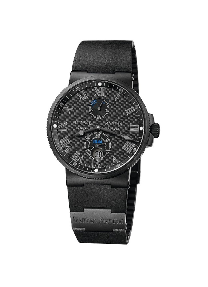 Ulysse Nardin Marine Chronometer 41mm in Black DLC Steel