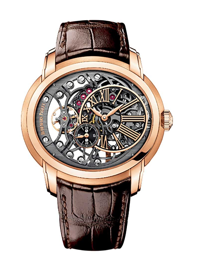 Audemars Piguet Millenary Openworked Mens 47mm Automatic in Rose Gold