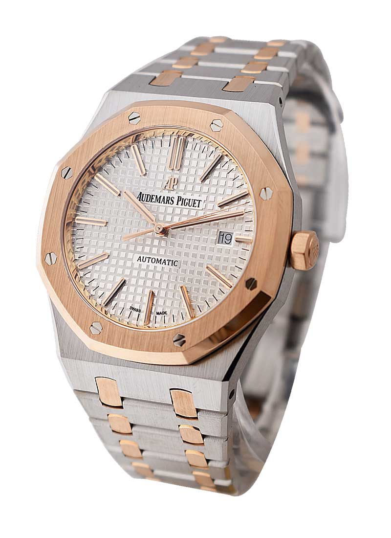Audemars Piguet Royal Oak 41mm Automatic in Steel and Rose Gold Bezel