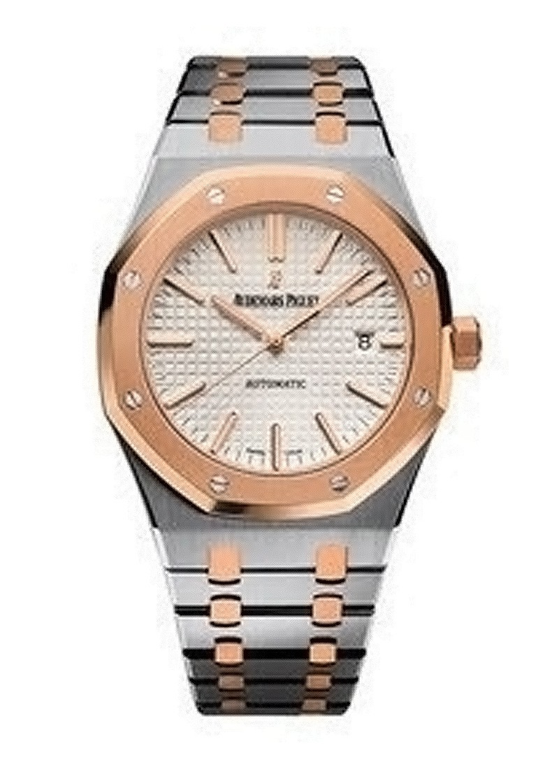 Audemars Piguet Royal Oak Mens 41mm Automatic in Steel and Rose Gold