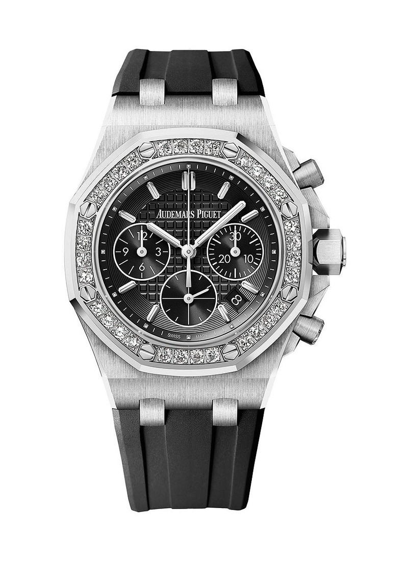 Audemars Piguet Royal Oak Offshore Chronograph 37mm in Steel with Diamond Bezel