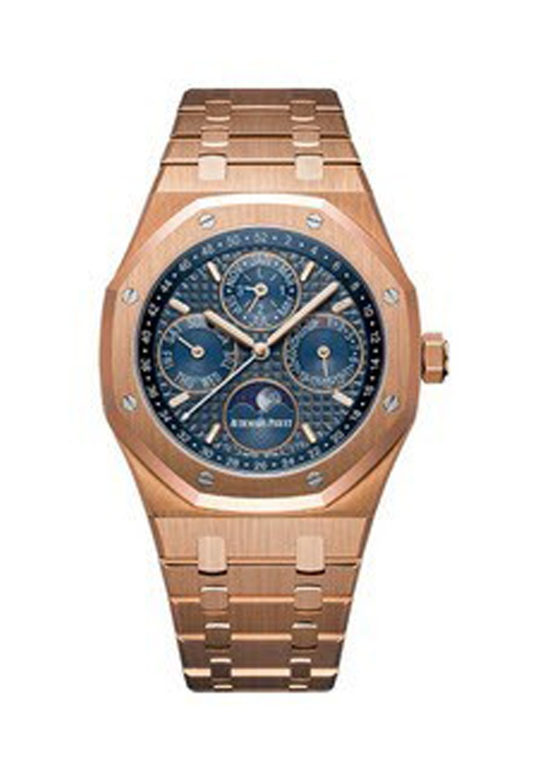 Audemars Piguet Royal Oak Perpetual Calendar Mens 41mm Automatic in Rose Gold