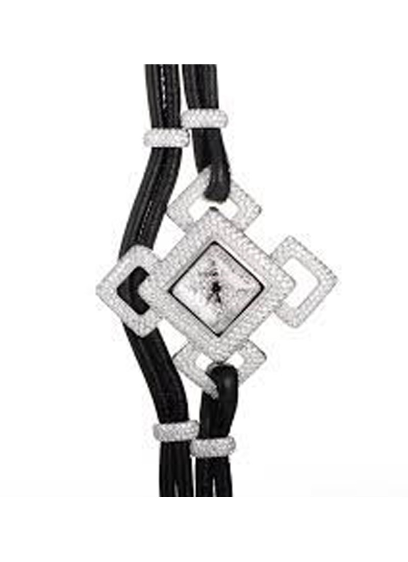 Audemars Piguet Deva Watch and Necklace Set Ladies Quartz in White Gold   Diamonds