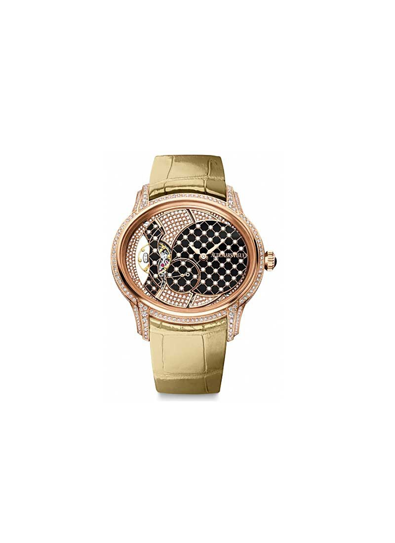 Audemars Piguet Millenary Ladies 39.5mm Manual in Rose Gold with Diamond Bezel