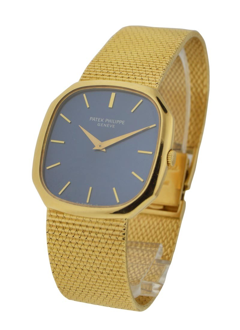 Patek Philippe Yellow Gold Vintage Cushion Ref 3855J