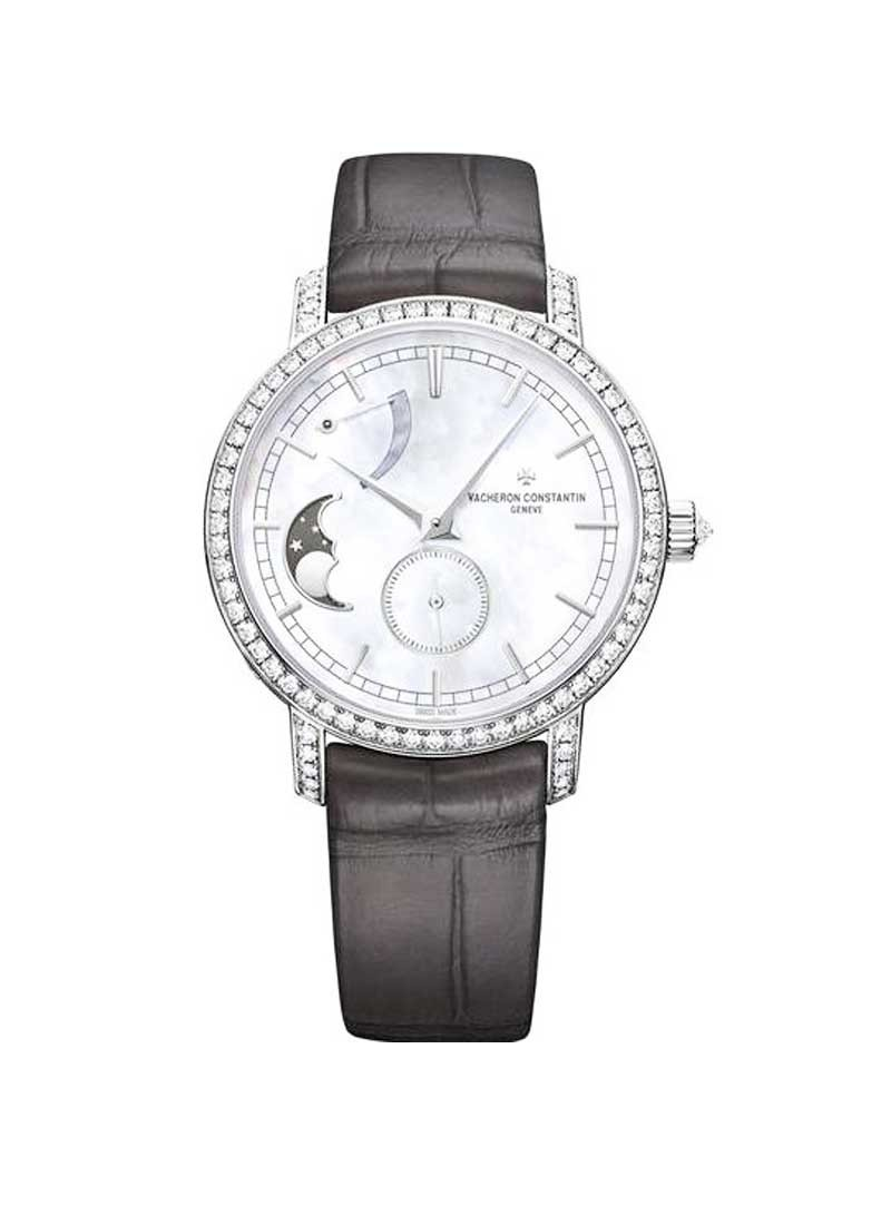 Vacheron Constantin Patrimony Traditionelle Moonphase and Power Reserve Ladies 36mm Manual in White Gold