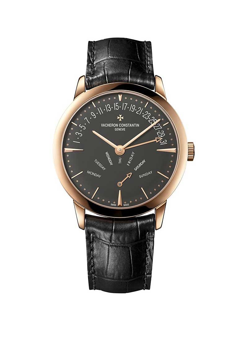 Vacheron Constantin Patrimony Retrograde Day-Date Mens 42.5mm Automatic in Rose Gold