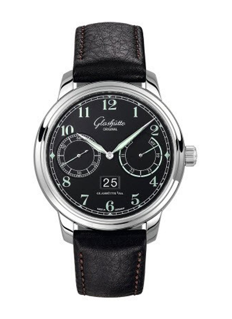 Glashutte Sneator Observer Mens 43mm Automatic in Steel