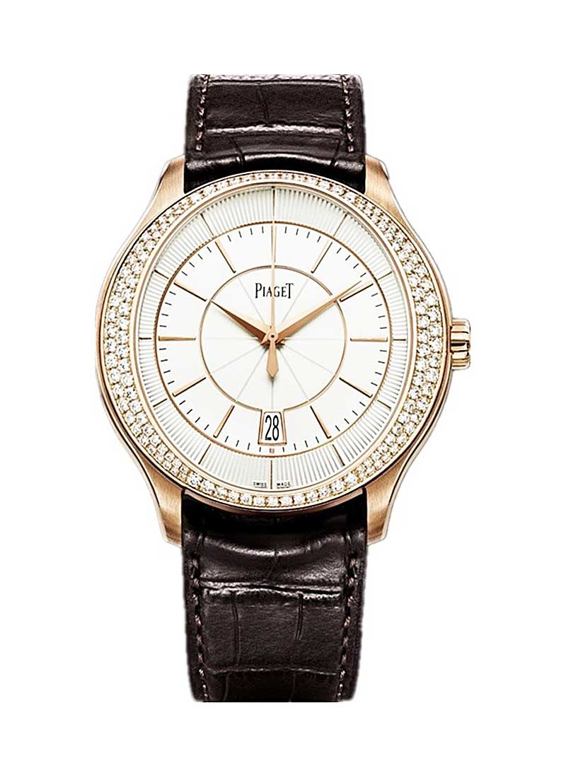 Piaget Gouverneur in Rose Gold with Diamond Bezel
