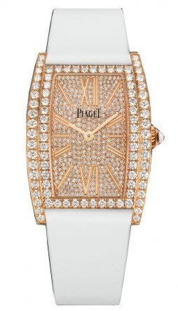 Piaget Limelight Tonneau in Rose Gold with Diamond Bezel