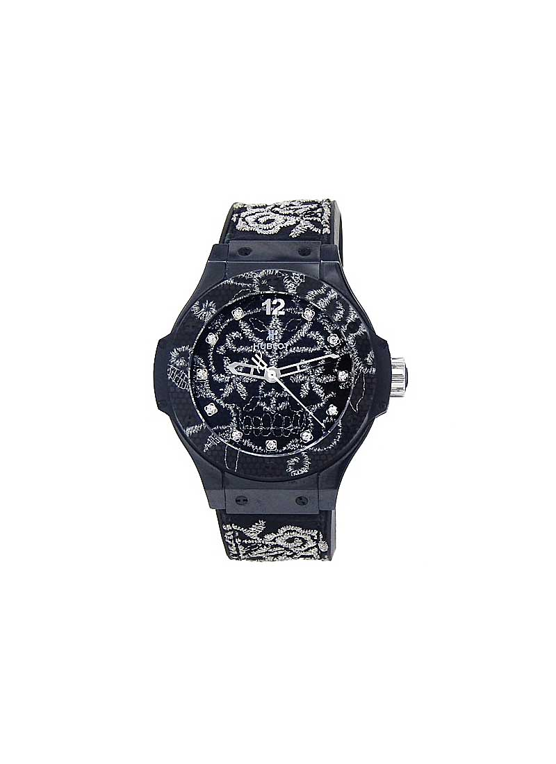 Hublot Big Bang Broderie  41mm Automatic in Black Ceramic