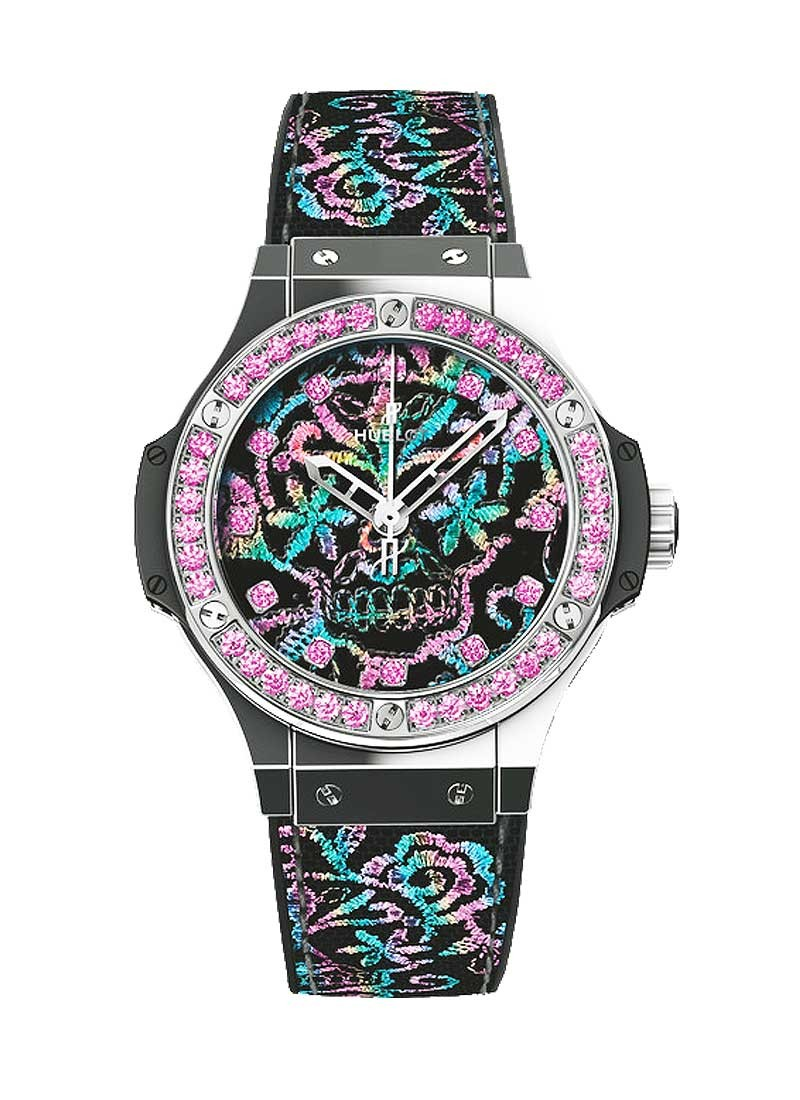 Hublot Big Bang Broderie Sugar Skull Mens 41mm Automatic in Steel