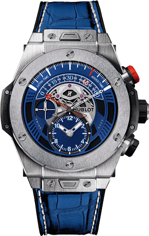 Hublot Big Bang Unico Retrograde Paris Saint Germain Mens 45mm Automatic in Black Ceramic