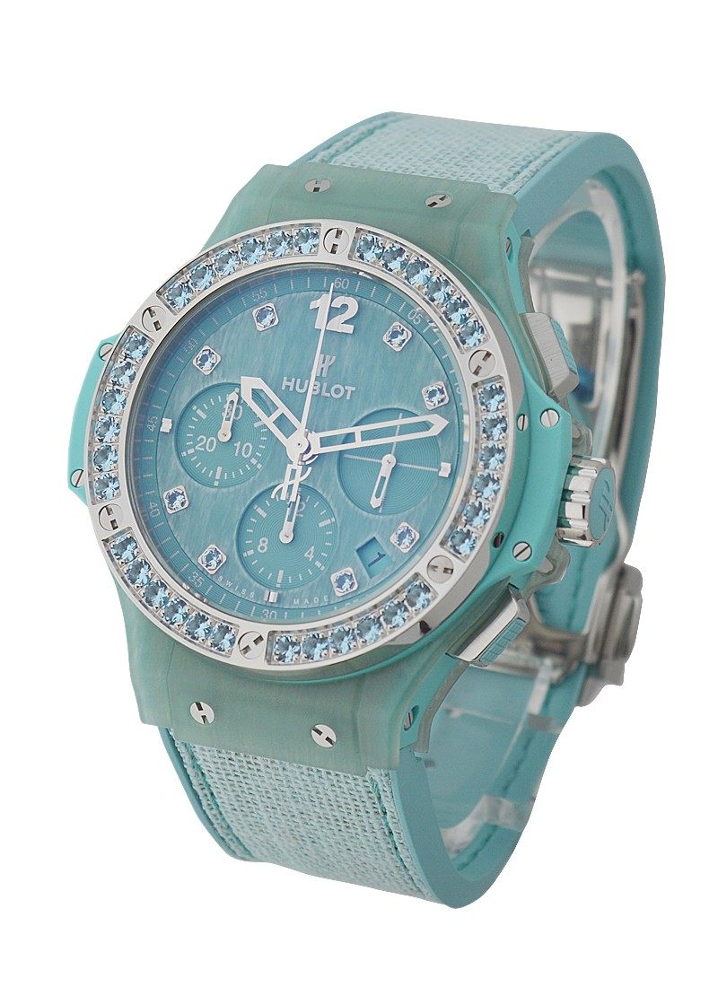 Hublot Big Bang tutti Frutti Linen Turquoise in Steel with Gemstone Diamond Bezel