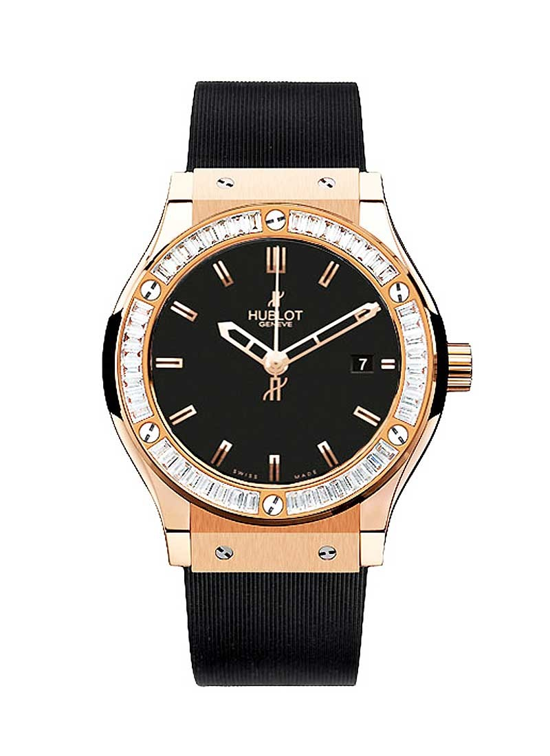 Hublot Classic Fusion 42mm Automatic in Rose Gold with Diamond