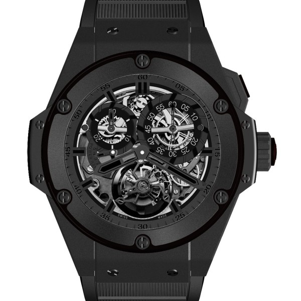 Hublot Big Bang King Power Chronograph Tourbillon in Black Ceramic