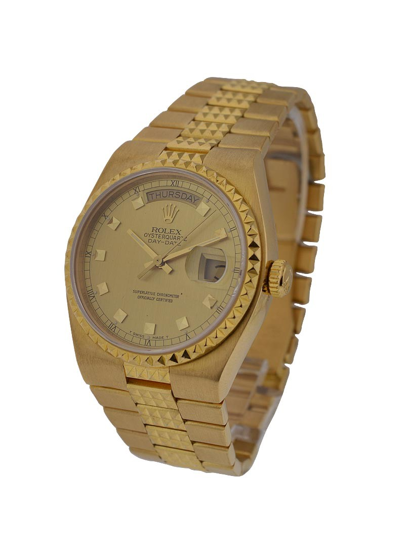 Pre-Owned Rolex President Day-Date Egyptian in Yellow Gold Pyramid Bezel