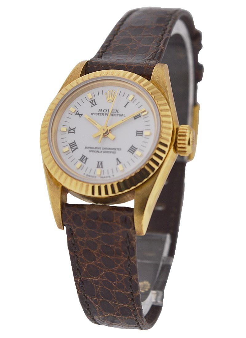 Rolex Used Ladies No Date 67108 Yellow Gold Oyster Perpetual
