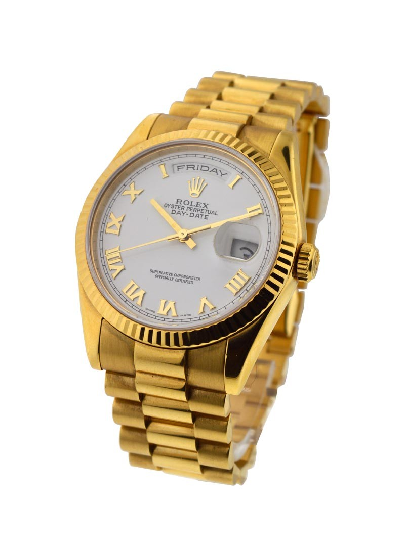 Rolex Used 36mm President with New Style Bracelet   YG 118238