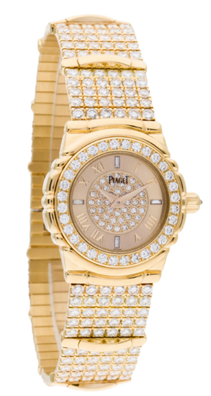 Piaget Tanagra in Yellow Gold with Diamond Bezel