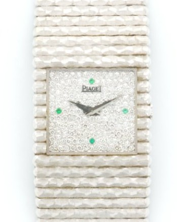 Piaget Vintage Ladies 17mm Manual in White Gold with Diamonds
