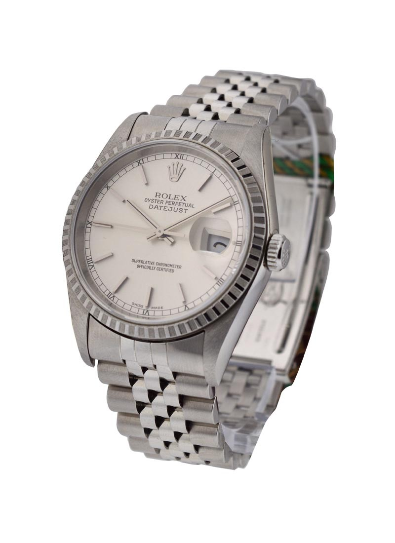 Rolex Used 36mm Datejust with Jubilee Bracelet   Engine Bezel