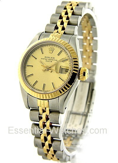 Pre-Owned Rolex Lady's 2-Tone Date 26mm - Fluted Bezel