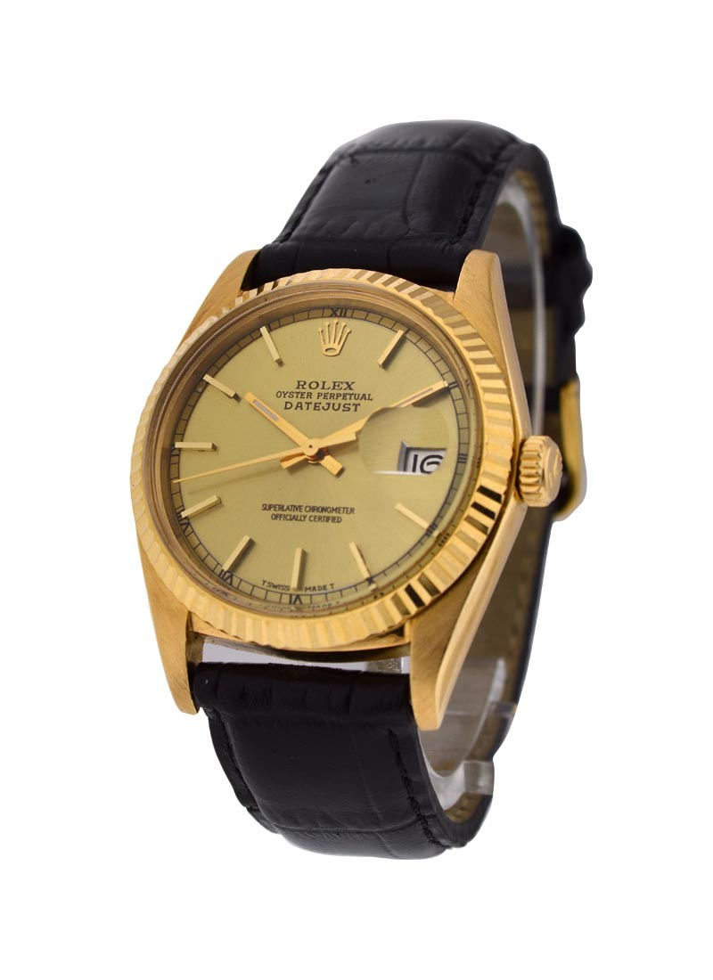 Rolex Used Vintage Datejust Ref 1601 in Yellow Gold