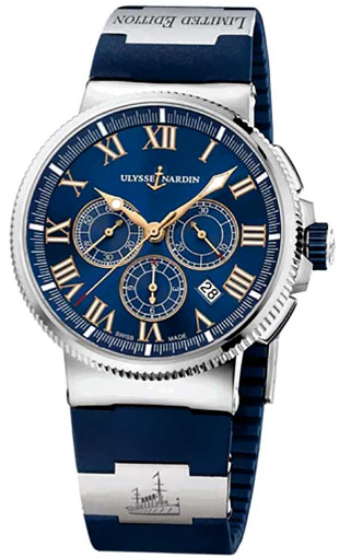 Ulysse Nardin Marine Chronograph Mens 43mm Automatic in Steel