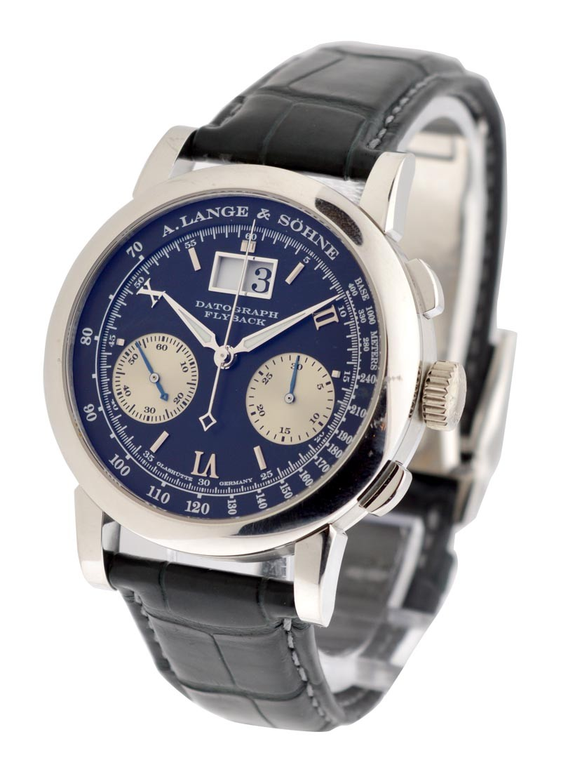 A. Lange & Sohne Datograph in Platinum with Deployment Folding Buckle