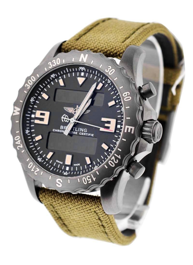 Breitling Professional Chronospace Military in Black Steel