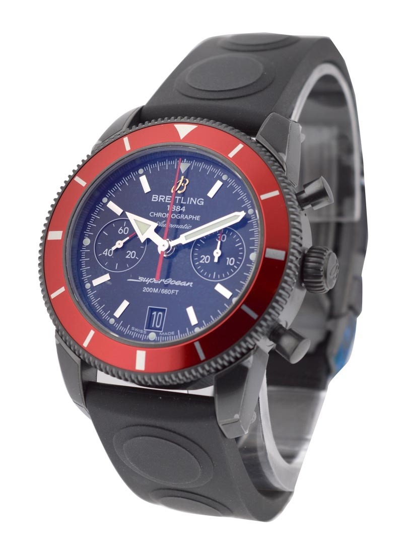 Breitling Superocean Heritage Chronograph in Black Steel with Red Bezel