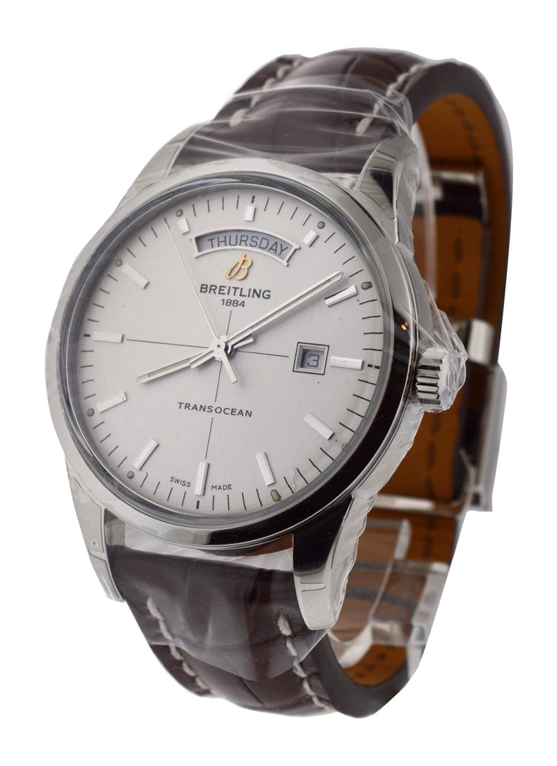 Breitling Transocean Day-Date Automatic in Steel