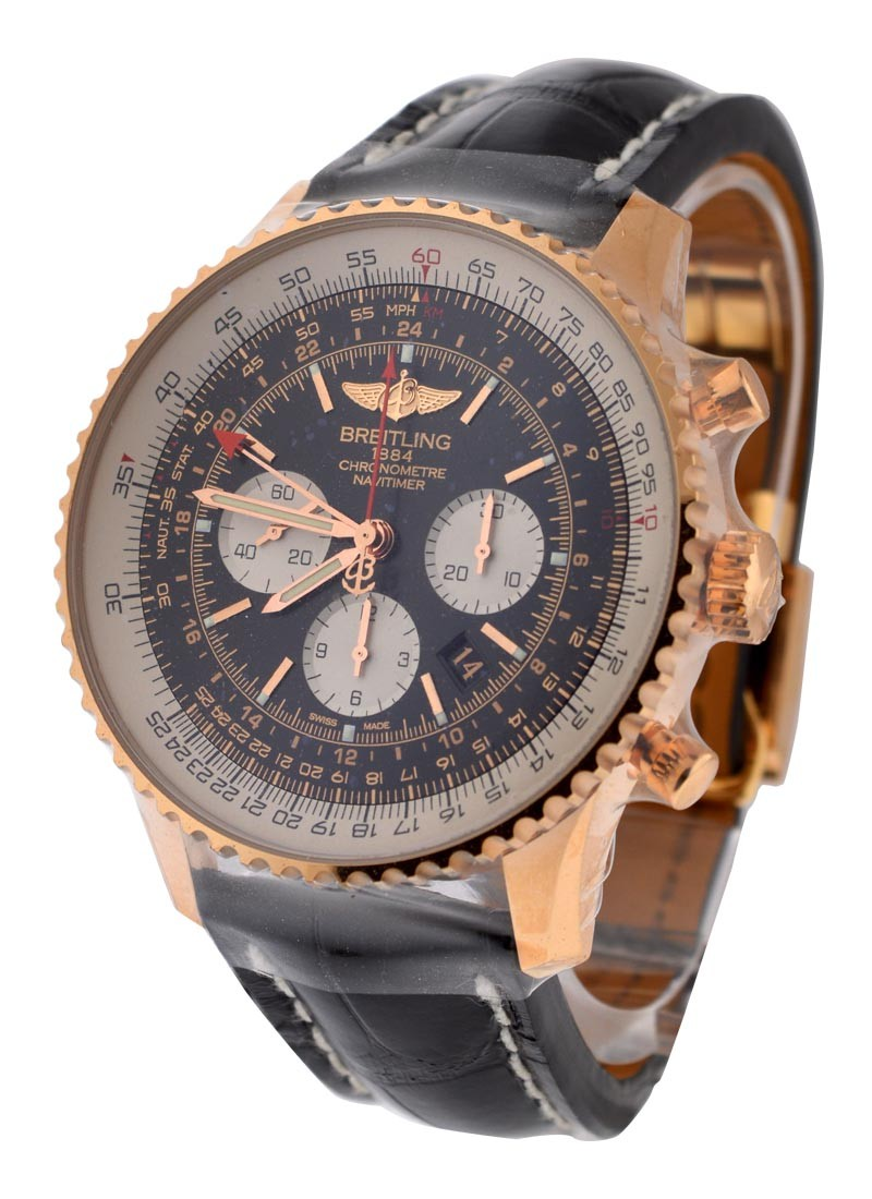 Breitling Navitimer GMT in Rose Gold   Limited Edition of 200 Pcs