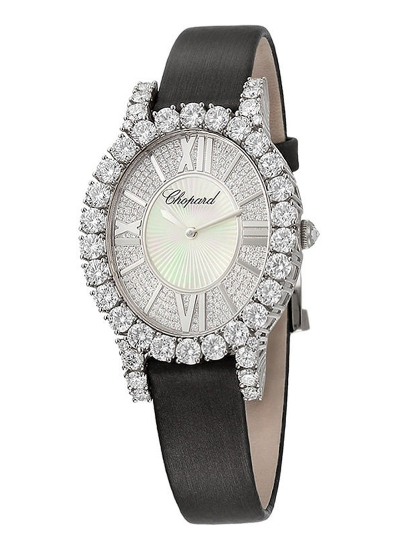 Chopard Heure Du Diamant Oval in White Gold with Diamond Case