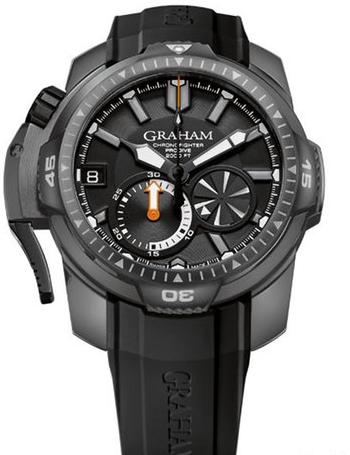 Graham Chronofighter Oversize Prodive in Steel