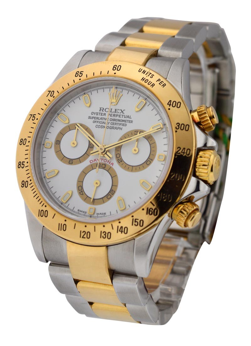 Rolex Used Daytona Steel and Gold Ref 116523