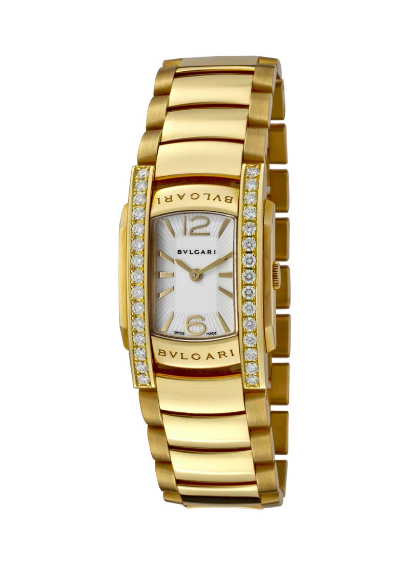 Bvlgari Assioma 32mm Quartz in Yellow Gold with Diamond Bezel
