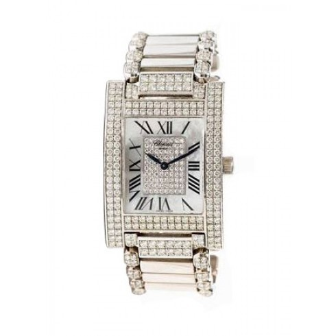 Chopard H Watch 28mm in Steel with Diamond Bezel