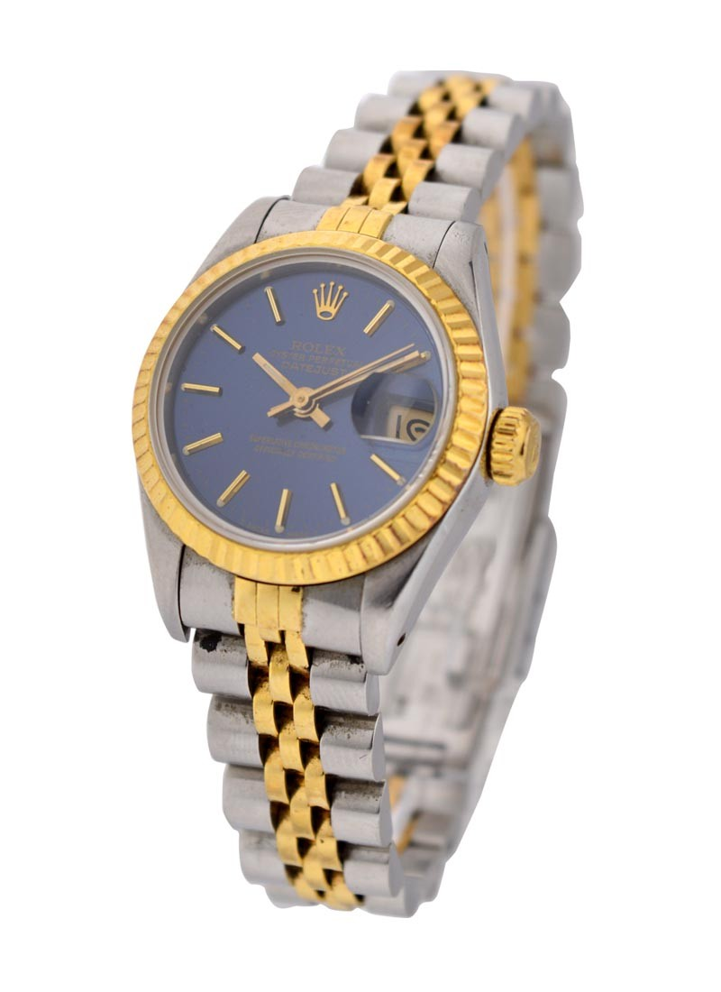 Rolex Used Datejust 26mm 2 Tone with Blue Stick Dial