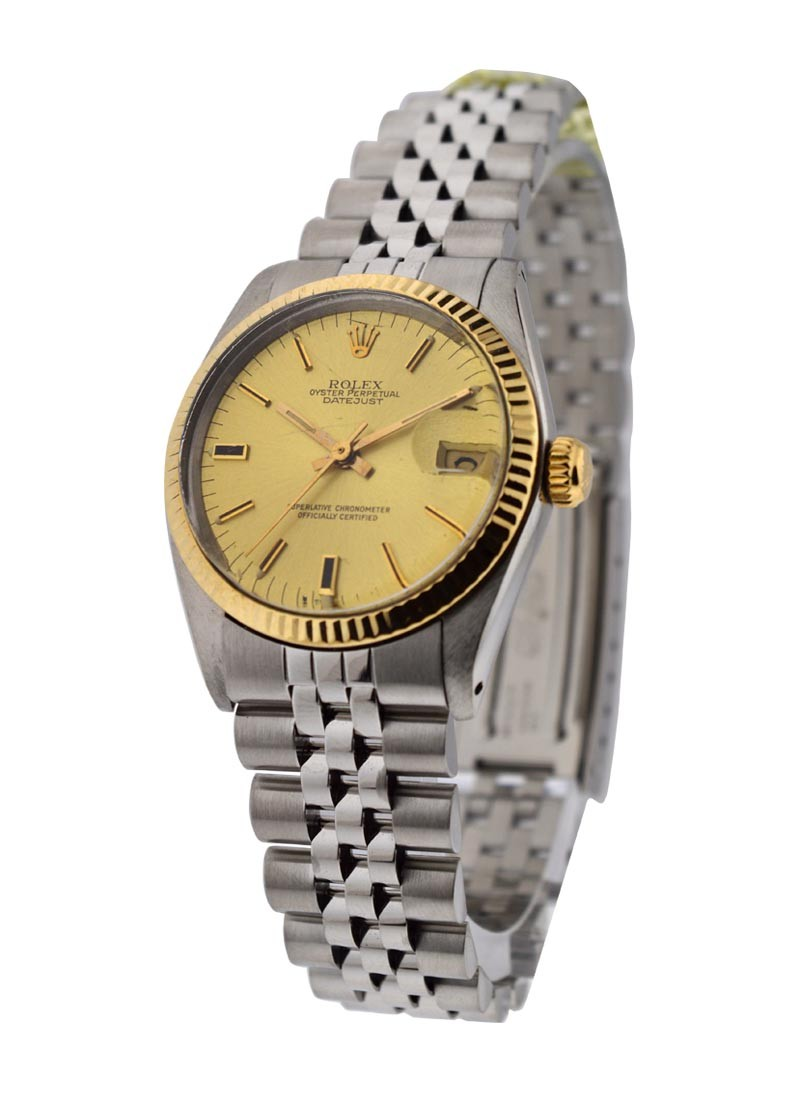 Rolex Used Mid Size Datejust Ref 6827