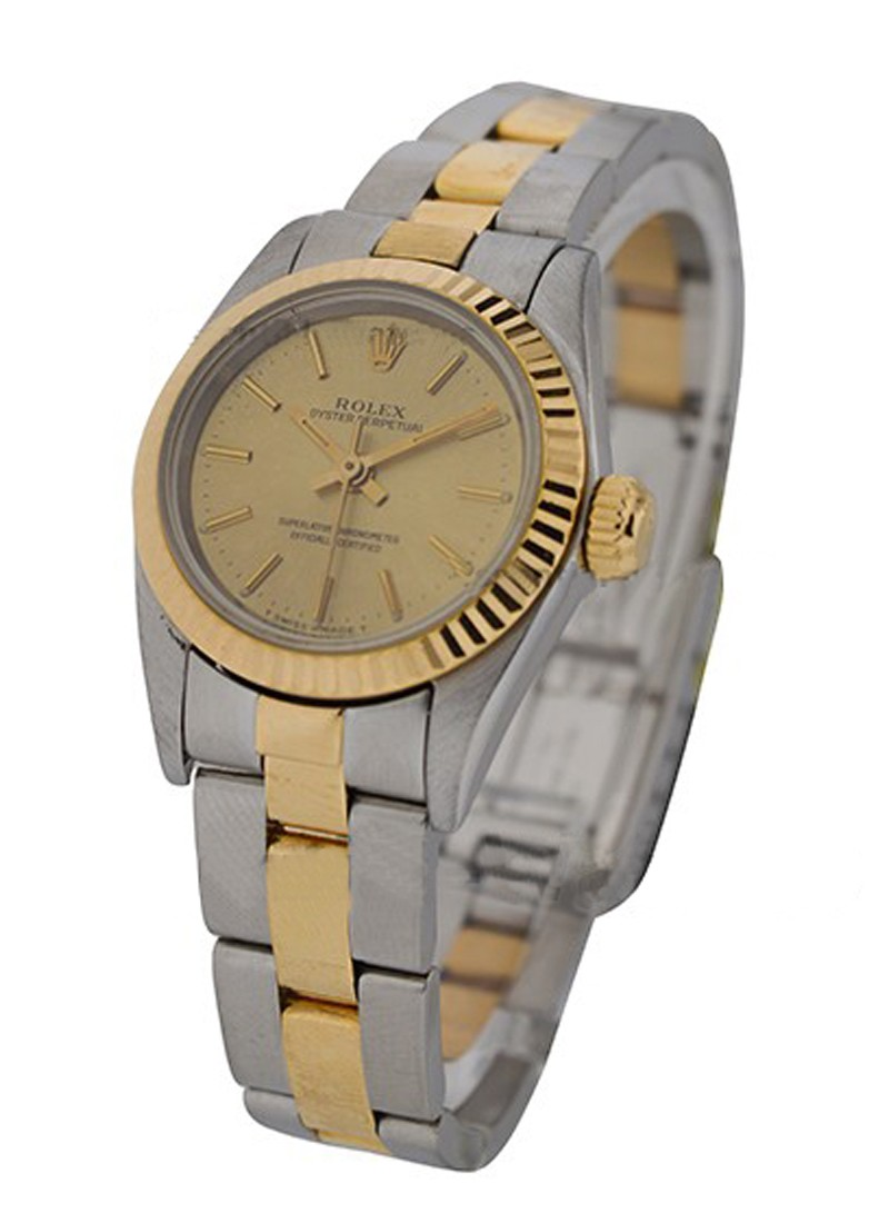 Rolex Used Ladies - 2-Tone - No Date - Fluted Bezel