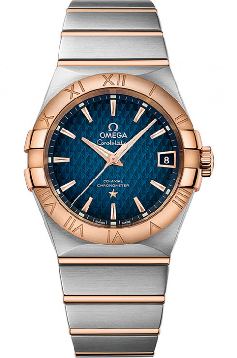 Omega Constellation Date Mens 38mm Automatic in Steel and Rose Gold