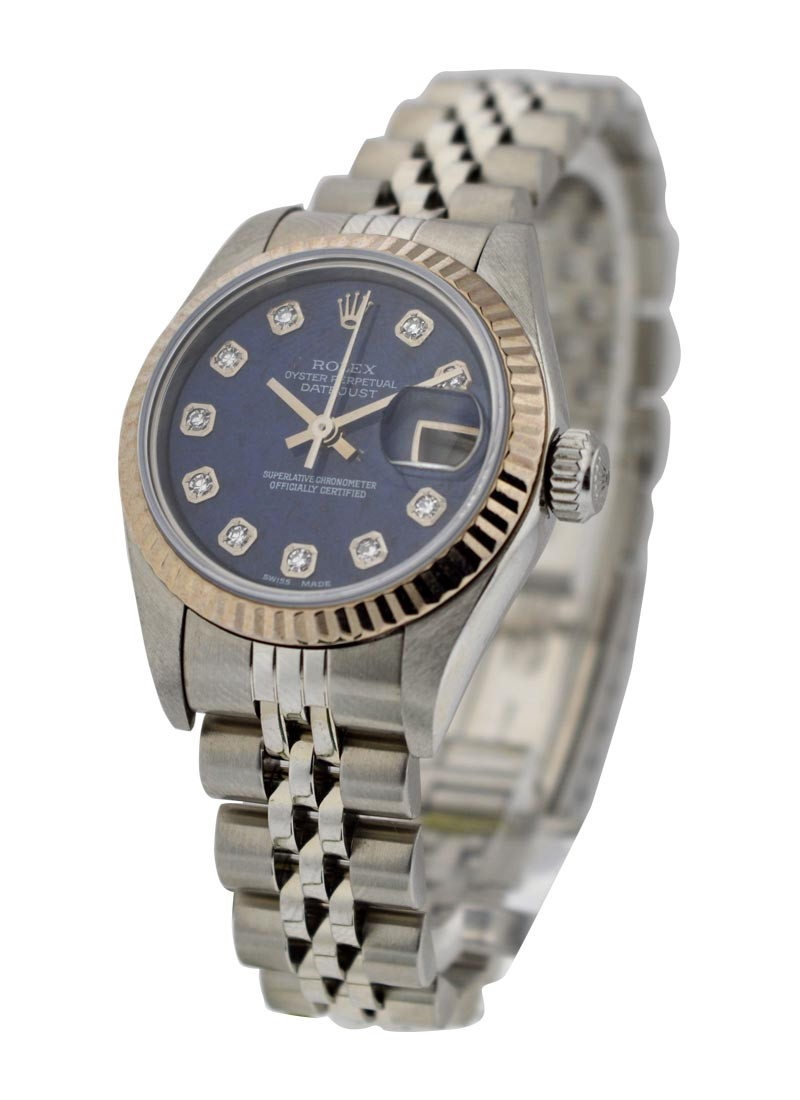 Rolex Used Steel Datejust  26mm  Ref   79174 with Sodalite Diamond Dial