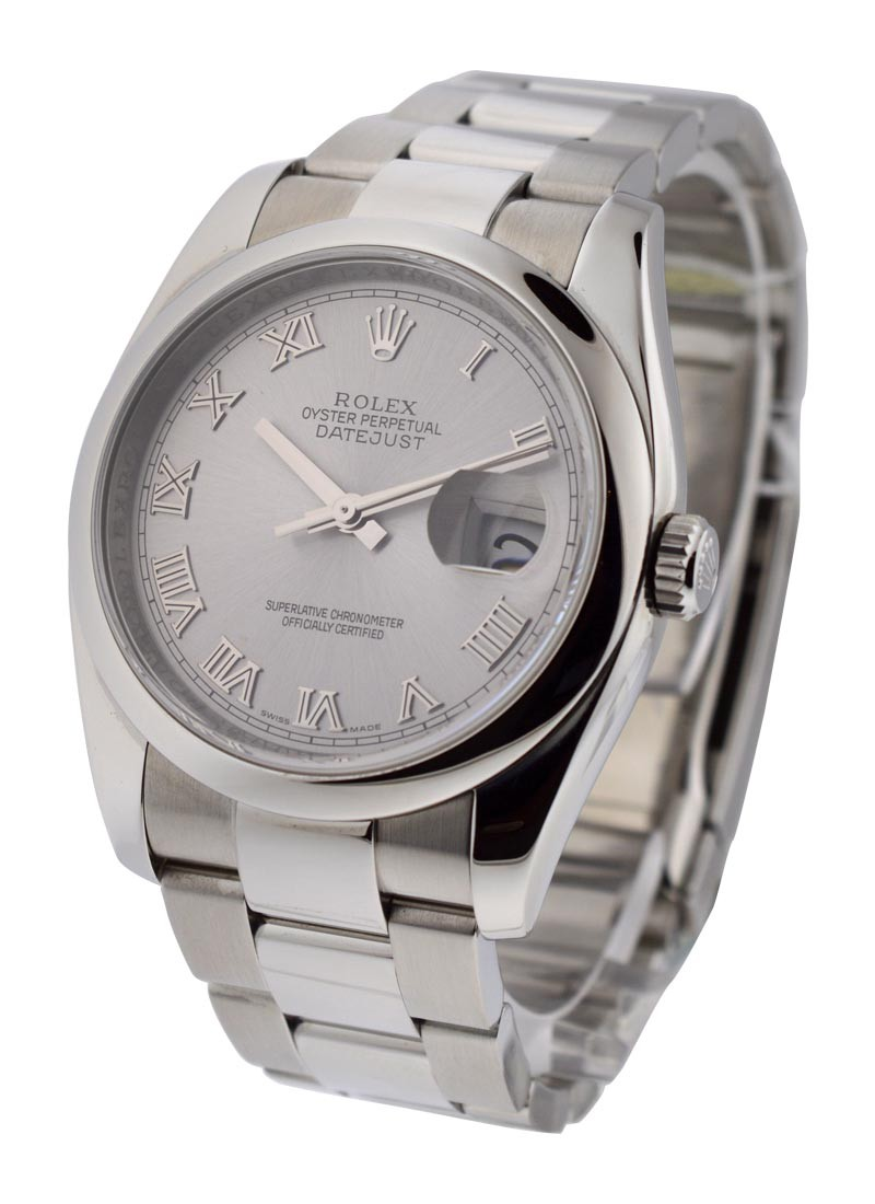Rolex Used Datejust 36mm in Steel with Smooth Bezel